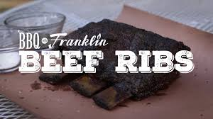bbq with franklin beef ribs youtube