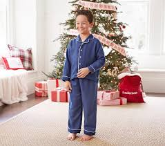 solid flannel pajama pottery barn