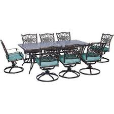 Outdoor Bar Height Swivel Chairs Blue Bar Height Dining Sets Outdoor Bar Furniture The Home Depot