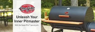 shop char griller super pro 29 in barrel charcoal grill at lowes com