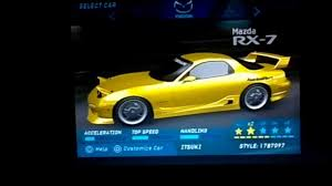 mazda a need for speed underground mazda rx 7 fd a spec kit replica youtube