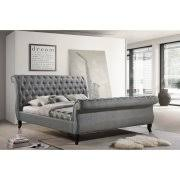King Size Sleigh Bed Nottingham King Size Tufted Sleigh Upholstered Platform Sleigh Bed