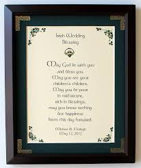 wedding blessings personalized wedding blessing framed print at irishshop