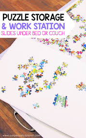 Jigsaw Puzzles Tables Quick Diy Jigsaw Puzzles Work Station U0026 Storage Set