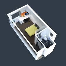 One Bedroom House Designs One Bedroom Apartment Plan And 3d Design Apartment 3d One Bedroom