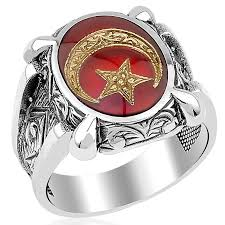 star rings silver images Red mina crescent star islamic silver ring boutique ottoman jpg