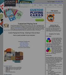 custom card manufacturer case study shuffled ink web design