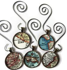 custom ornaments custom map ornament charms map ornaments for the