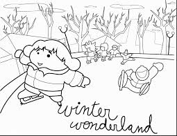 excellent winter wonderland coloring pages with winter coloring