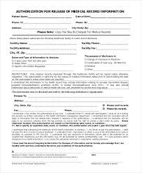 printable medical authorization form 9 free word pdf documents