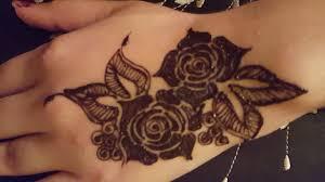 hathon ki mehndi ke dizain rose design flower tattoo arabic design