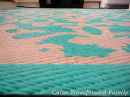 Recycled Plastic Rug Indoor Outdoor Rug Color Transformed Family