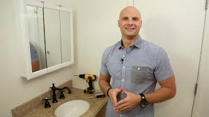 how to install a bathroom mirror youtube