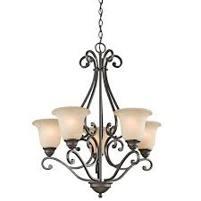 5 light bronze chandelier kichler lighting camerena collection 5 light olde bronze chandelier