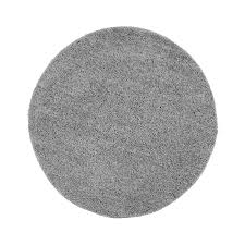 Schlafzimmer Teppich Rund Teppich Hochflor Einfarbig Shaggy Uni 500 Grau Rund Rechteckig