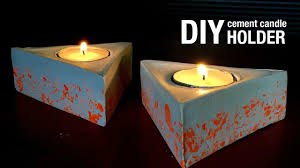 diy cement geometric candle holders tutorial 3 home decor how