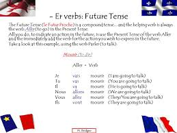 regular u2013 ir verbs in the present past and future tenses ppt
