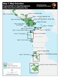 Presidio San Francisco Map by Maps Under The Proposed Rule For Dog Management Golden Gate