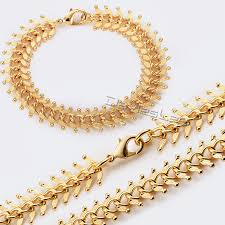 jewelry necklace bracelet images 14mm womens chain girls ladies centipede gold filled gf necklace jpg