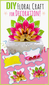 diy paper crafts a beautiful floral craft for home decoration