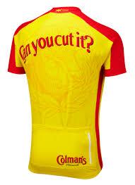 coleman s mustard colman s mustard road cycling jersey foska