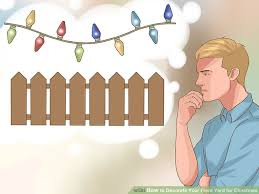 Christmas Decoration For Front Yard by How To Decorate Your Front Yard For Christmas 8 Steps