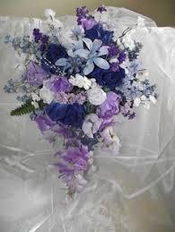 Violet Wedding Flowers - 17pc wedding bridal bouquet decoration package flower plum