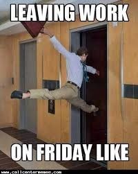 Friday Work Meme - leaving work on friday like meme boomsbeat