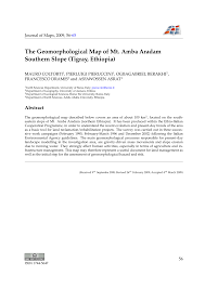 Large Siena Maps For Free by The Geomorphological Map Of Mt Amba Aradam Southern Slope Tigray