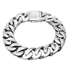 bracelet man silver stainless steel images Bracelet man stainless steel silver strength virility coarse 20 5 jpg