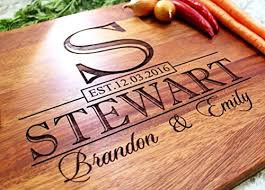 personalized cutting board wedding classic monogram wedding design personalized cutting board