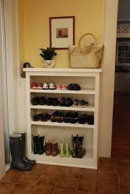 mudroom shoe storage shelves with bench decofurnish