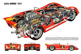 alfa romeo tipo 33 3 group 6 1969 racing cars