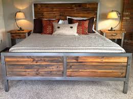 Wood And Metal Bed Frame Best 25 Steel Bed Frame Ideas On Pinterest Metal Projects