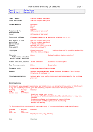 Professional Resume Guidelines How To Write A Resume Or Cv Resume For Your Job Application