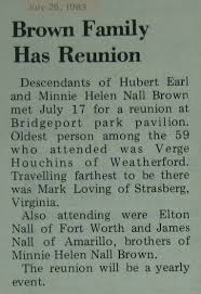 family reunion u0026 family history articles from the u0027bridgeport