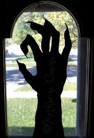 Halloween Monster Hands Best 25 Halloween Window Silhouettes Ideas Only On Pinterest