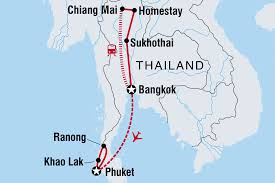 Thailand Blank Map by Thailand Explorer Thailand Tours Intrepid Travel Au