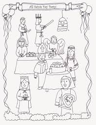 all saints day coloring pages catholic saints and all saints day