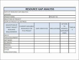 Requirements Template Excel Gap Analysis Template Excel