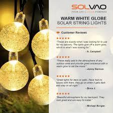 Where To Buy Patio String Lights Solvao Warm White Solar Powered Globe String Lights 30 Led Solvao