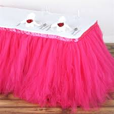 Pink Table Skirt by Tablecloths Chair Covers Table Cloths Linens Runners Tablecloth