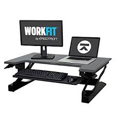 Ergotron Sit Stand Desk Ergotron Workfit T Sit Stand Desk Converter Black