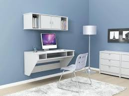 terrific home design floating desk with hutch made of wood in white throughout floating desks wall