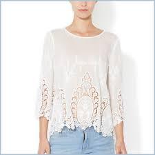 cynthia rowley blouse cynthia rowley white 100 cotton vita dolce embroidered eyelet