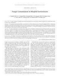fungal contamination in hospital environments u2022 pdf download