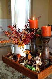 centerpiece for thanksgiving dinner table fall table centerpieces fill a tray fall dining table decorating