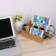 laptop charging station multi device charging station dock organizer multiple finishes