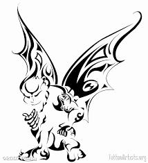 famous tribal gargoyle tattoo stencil for boys picsmine
