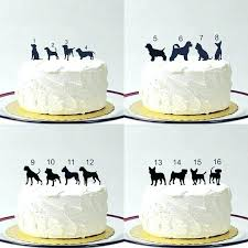 family cake toppers pet cake toppers made in silhouette topper with dog different dogs